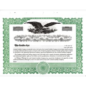Green Short Form LLC Certificate
