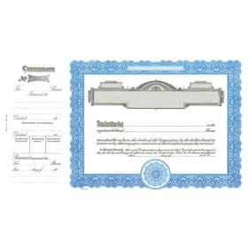 Goes No. 720 Stock Certificate
