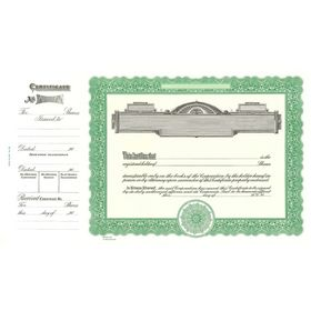 Goes No. 722 Stock Certificate
