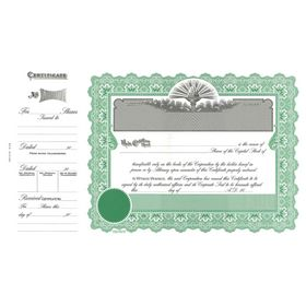 Capital Stock Certificate - Goes 6136