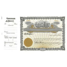 Goes No. 57 Stock Certificate