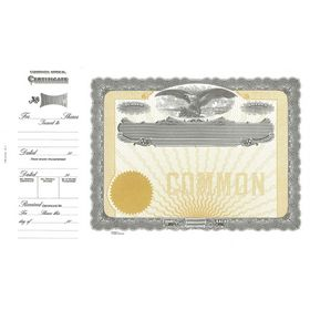 Goes No. 71 Stock Certificate