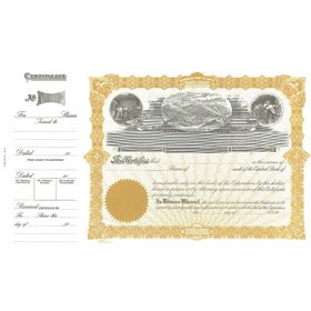Goes 91 Stock Certificate Form