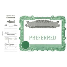 Goes 178 Preferred Stock Certificate