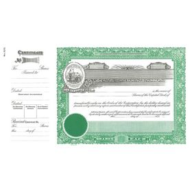 Goes No. 223 Stock Certificate