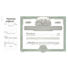 Goes 755 Corporate Certificate