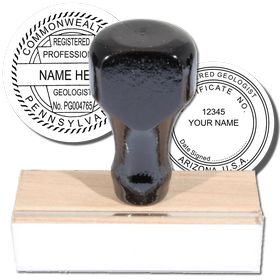 Geologist Regular Rubber Stamp of Seal