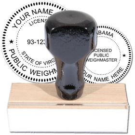 Public Weighmaster Regular Rubber Stamp of Seal