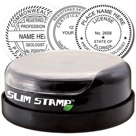 Geologist Slim Pre-Inked Rubber Stamp of Seal