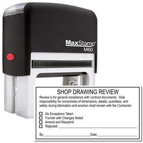 Self Inking Shop Drawing Review Stamp