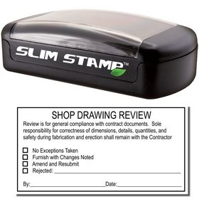 Slim Pre Inked Shop Drawing Review Stamp