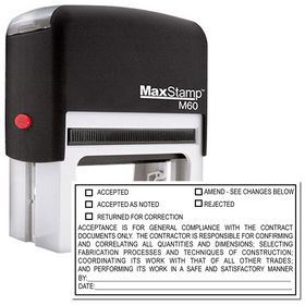 Self Inking General Review Stamp