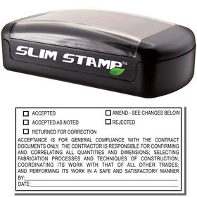 Slim Pre Inked General Review Stamp