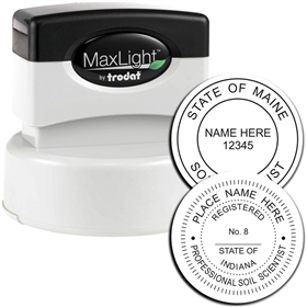 Professional MaxLight Pre Inked Rubber Stamp of Seal