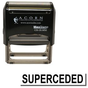Self Inking Superceded Stamp