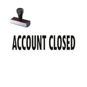 Regular Account Closed Rubber Stamp