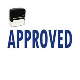 Self Inking Approved Rubber Stamp