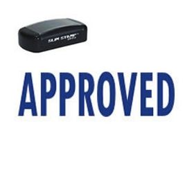 Slim Pre-Inked Approved Rubber Stamp
