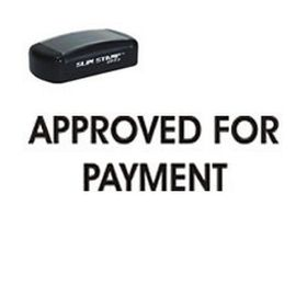 Slim Pre-Inked Approved For Payment Stamp