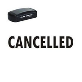 Slim Pre-Inked Cancelled Rubber Stamp