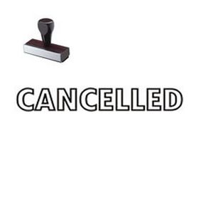 Outlined Cancelled Rubber Stamp
