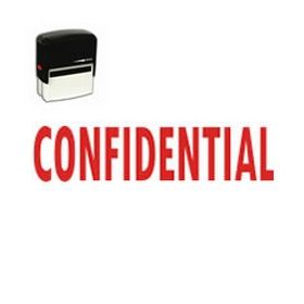 Self Inking Confidential Rubber Stamp