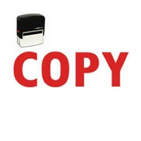 Self Inking Copy Rubber Stamp