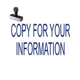 Copy For Your Information Rubber Stamp
