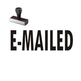 E-Mailed Rubber Stamp