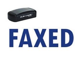 Slim Pre-Inked Faxed Stamp