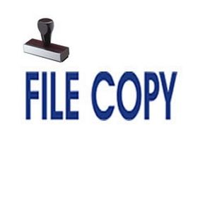 File Copy Business Rubber Stamp