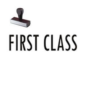 First Class Mailing Rubber Stamp