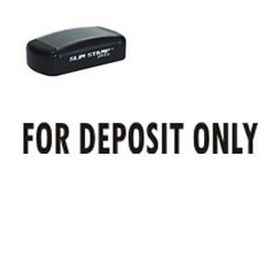 Slim Pre-Inked For Deposit Only Rubber Stamp