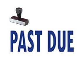Regular Past Due Rubber Stamp