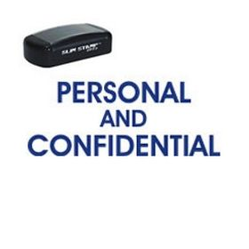Slim Pre-Inked Personal Confidential Stamp