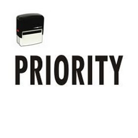 Self Inking Priority Rubber Stamp
