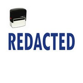 Self Inking Redacted Rubber Stamp
