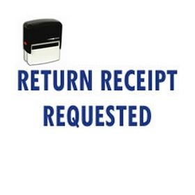 Self Inking Return Receipt Requested Rubber Stamp