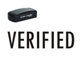 Slim Pre-Inked Verified Stamp