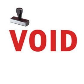 Regular Void Rubber Stamp