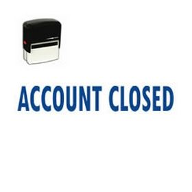 Self-Inking Account Closed Stamp