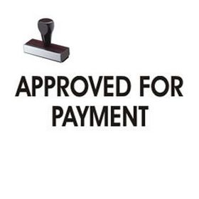Approved For Payment Rubber Stamp