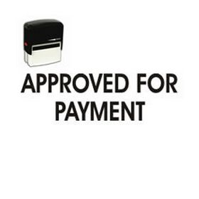 Self-Inking Approved For Payment Stamp