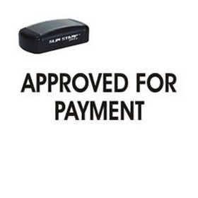 Pre-Inked Approved For Payment Stamp