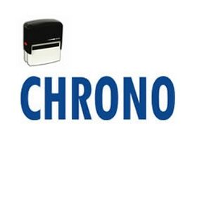 Self Inking Chrono Rubber Stamp (Large)