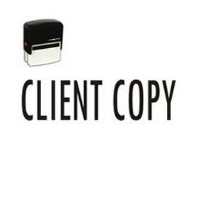 Self-Inking Client Copy Stamp