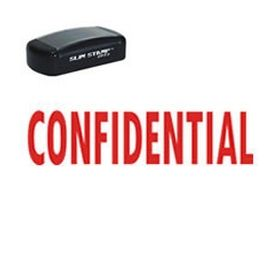 Large Slim Pre-Inked Confidential Rubber Stamp