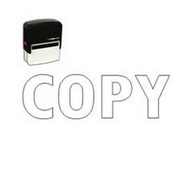 Self Inking Copy (Outline) Rubber Stamp (Large)