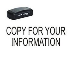 Slim Pre-Inked Copy for your information Rubber Stamp - Large