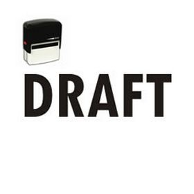 Large Self Inking Draft Rubber Stamp